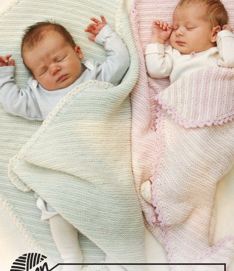 Dream State – Free Garter Stitch Baby Blanket Pattern
