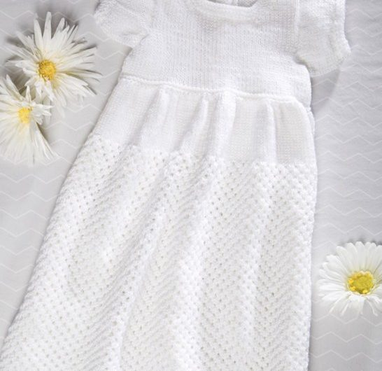 Baby Christening Gown Free Knitting