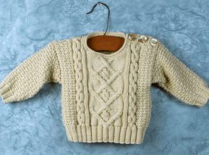 Baby Poonam Cabled Sweater Free Knitting Pattern