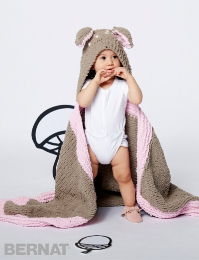 Bernat Oh Deer Blanket free knitting pattern