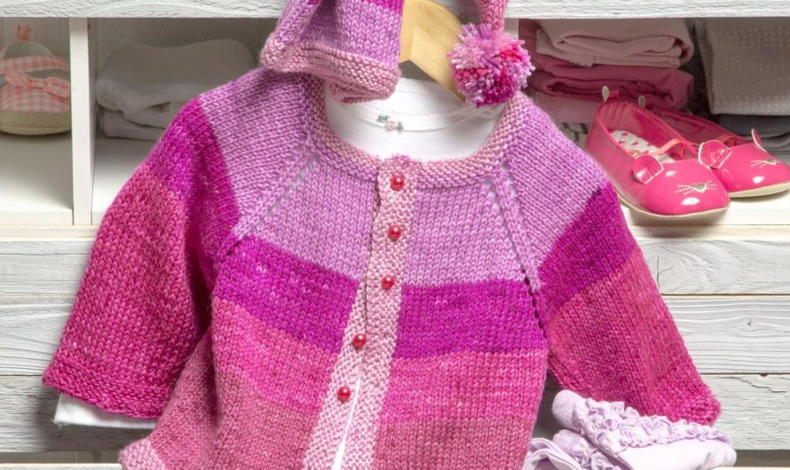 Free Baby Knitting Pattern for a Pixie Cardigan and Hat