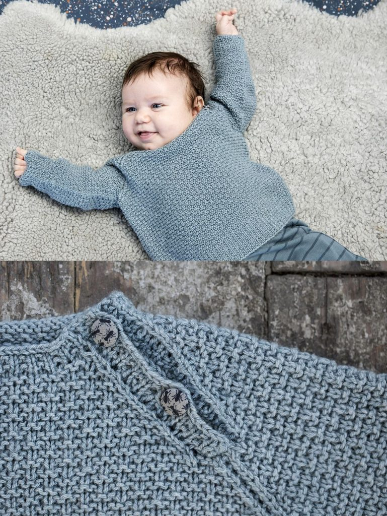 Free Knitting Pattern for a Baby Sweater Elliot