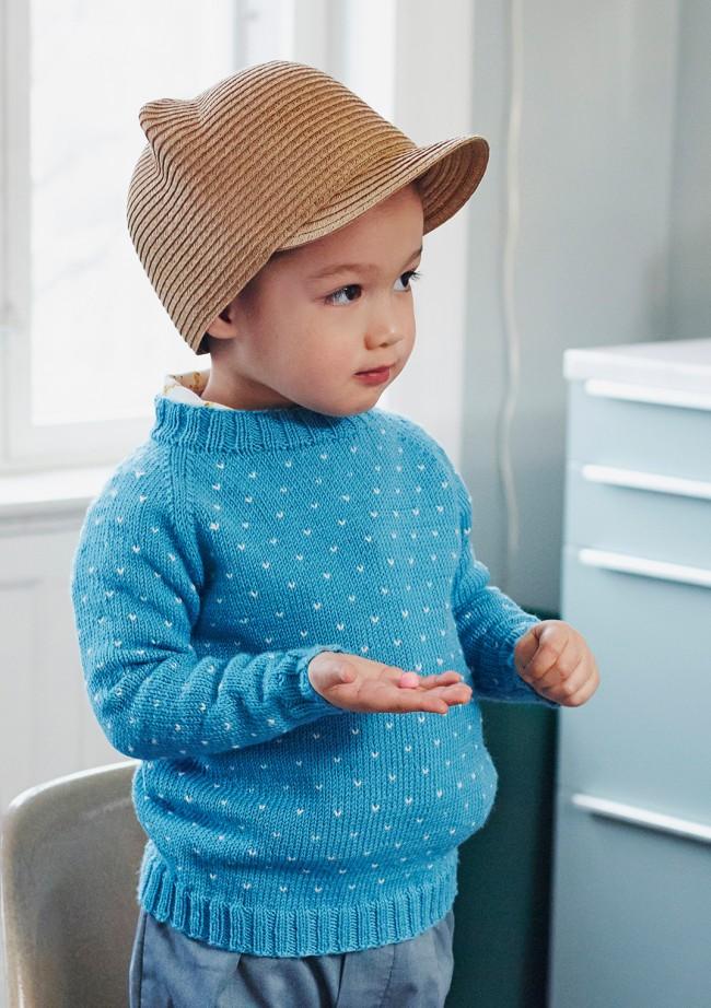 Free Knitting Pattern for a Boy's Raglan Sweater