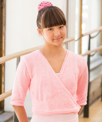 Free Knitting Pattern for a Child's Ballerina Wrap Sweater