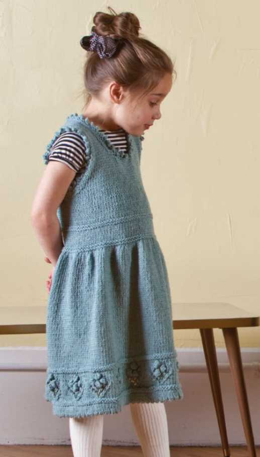 Free Children's Knitting Patterns a Girl's Teacup Pinafore Dress