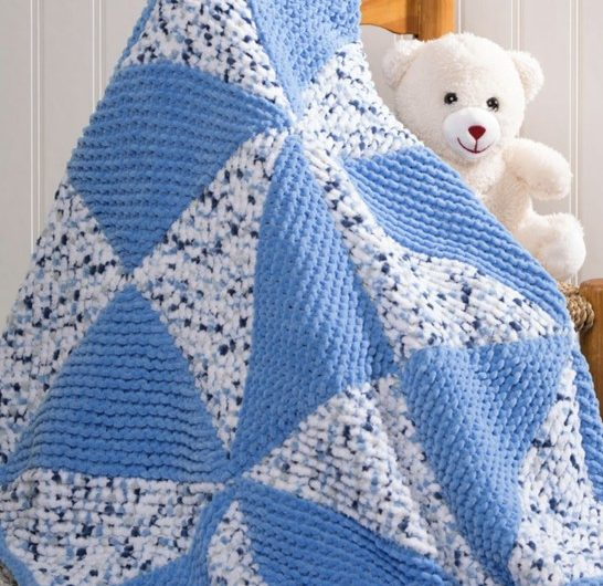 Pinwheel Baby Blanket Free Knitting Pattern Download