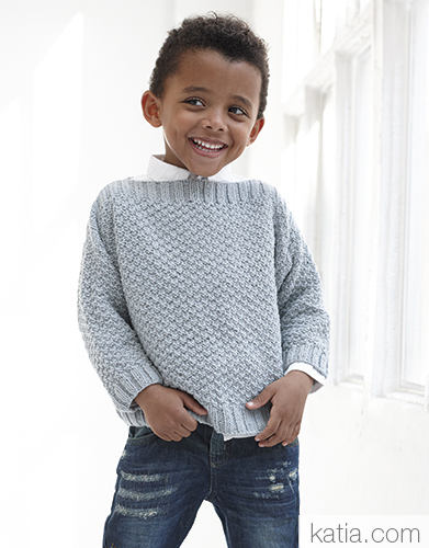 Sweater for Kids Free Knitting Pattern